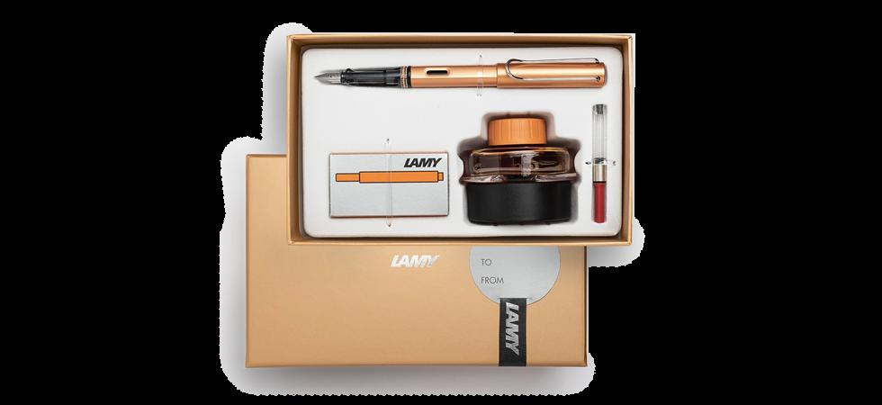LAMY special edition AL-star fountain pen gift set - bronze