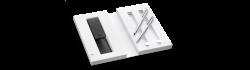 LAMY logo brushed Set Druckbleistift / Ballpoint pen mit Lederetui 106/206