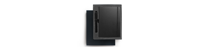LAMY AL-star rollerball pen and notebook gift pack - black