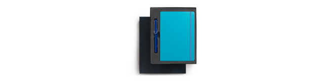 LAMY safari rollerball pen and notebook gift pack - blue