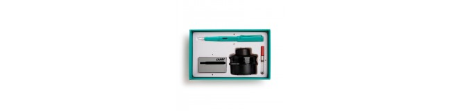 LAMY special edition safari candy fountain pen gift set - aquamarine