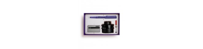 LAMY special edition safari candy fountain pen gift set - violet
